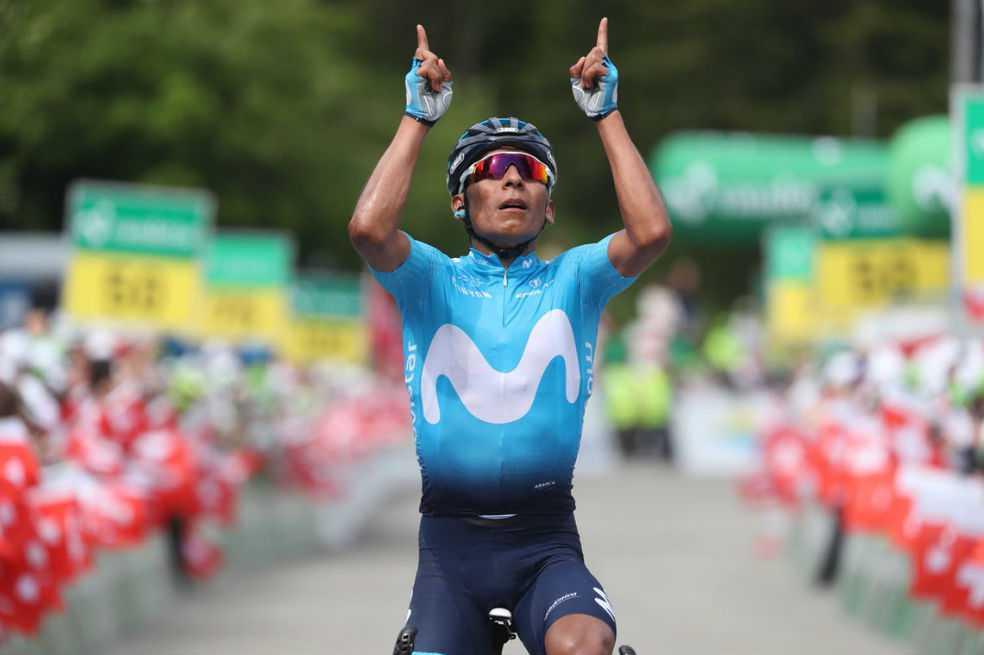 Nairo Quintana se adjudicó la séptima etapa de la Vuelta a Suiza