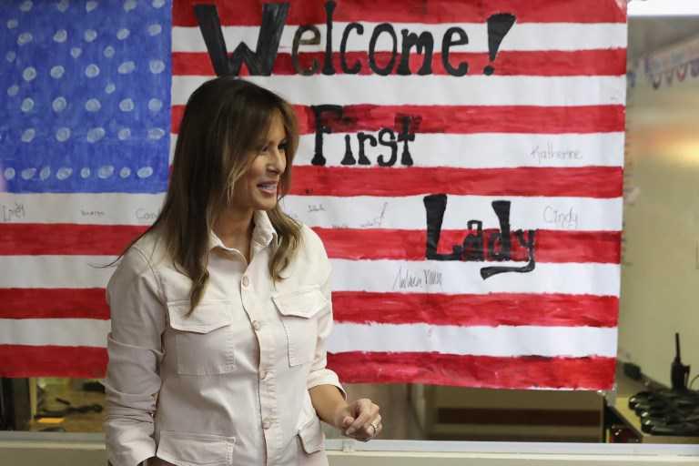 Melania Trump realiza sorpresiva visita a zona de frontera con México