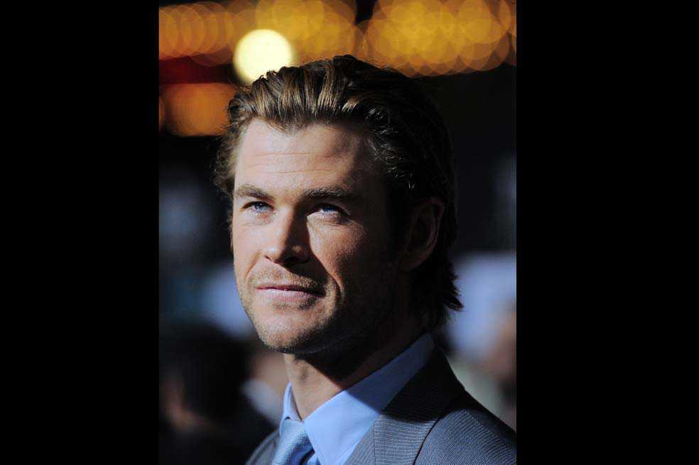 Primera imagen de Chris Hemsworth como Hombre de Negro
