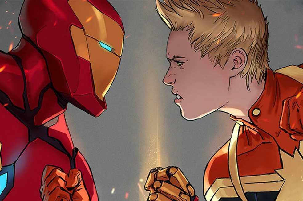 ¿Aparecerán juntos Iron Man y Capitana Marvel en «Vengadores 4»?