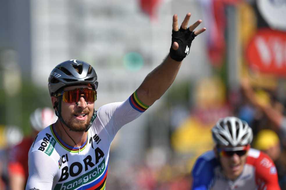 Peter Sagan ganó la segunda etapa y ahora es el líder del Tour de Francia