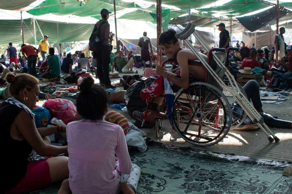 Nicaragüenses dicen estar más seguros en caravana de migrantes que en su país
