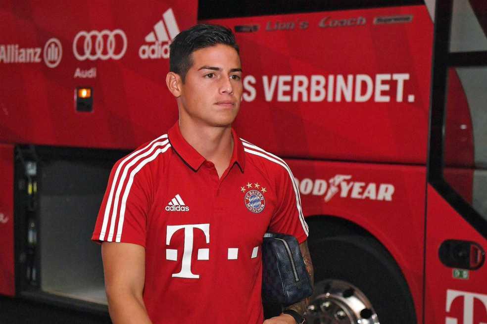 Bayern Múnich confirmó una nueva lesión de James Rodríguez