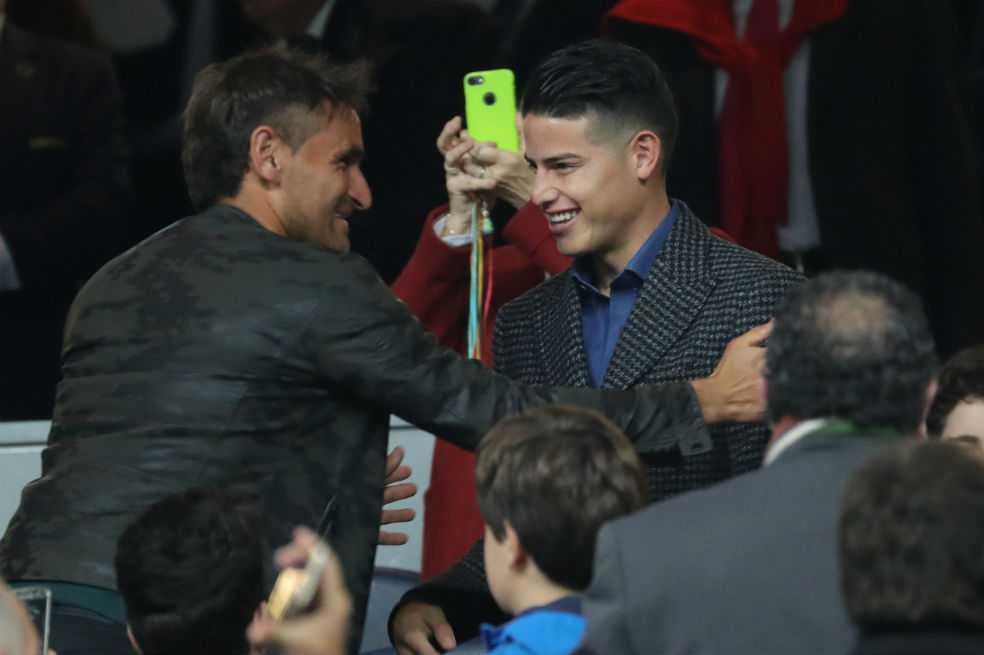James Rodríguez le expresó a Hugo Gatti su deseo de regresar al Real Madrid