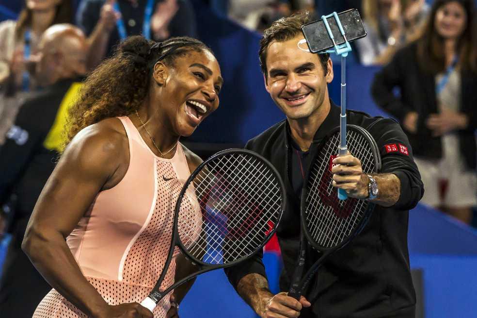 Roger Federer gana a Serena Williams en su esperado partido en la Copa Hopman