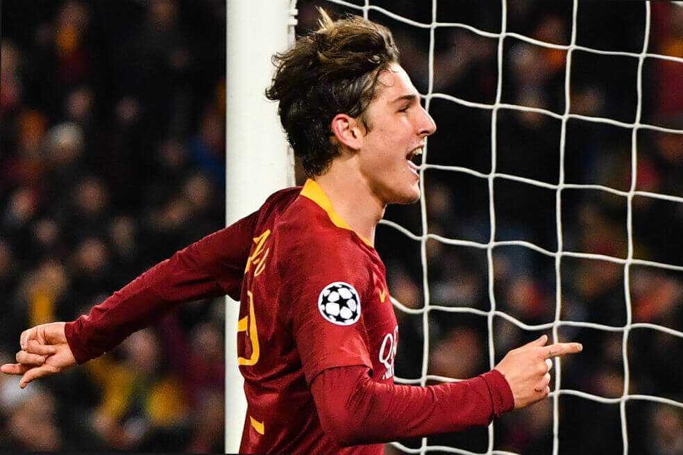 Doblete de Zaniolo le da la victoria a la Roma frente al Porto