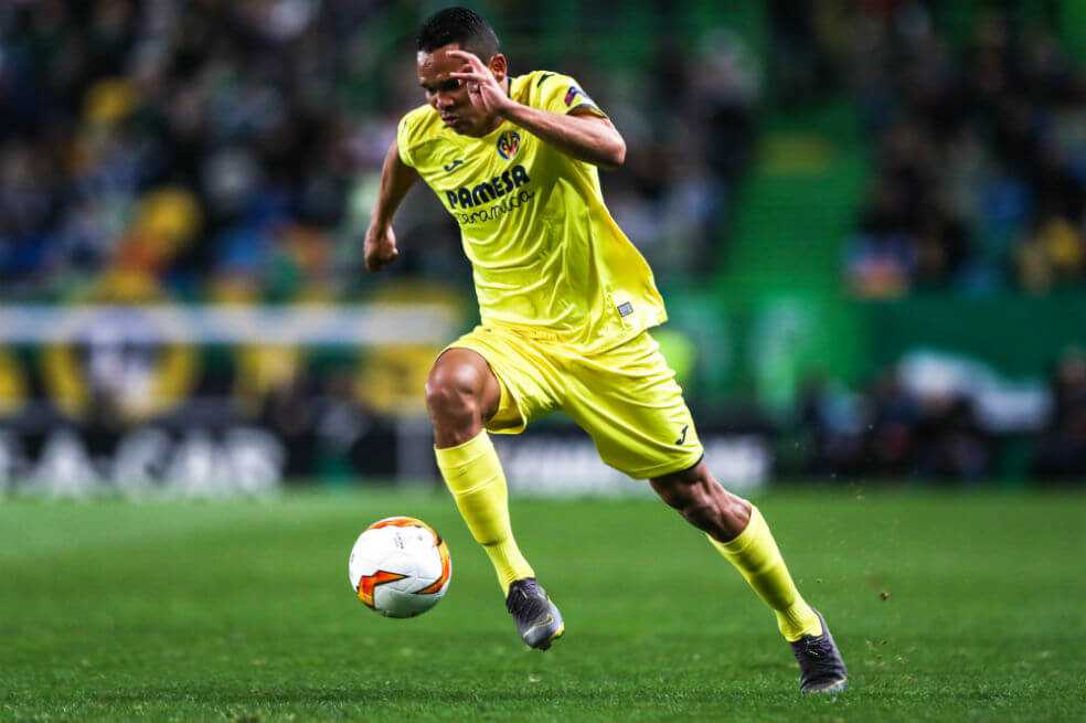 Carlos Bacca, 90 minutos en el triunfo del Villarreal por Europa League