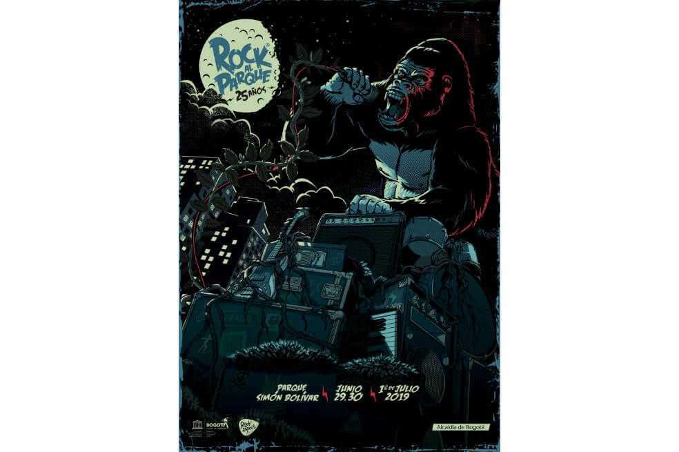 Este es el afiche de Rock al Parque 2019