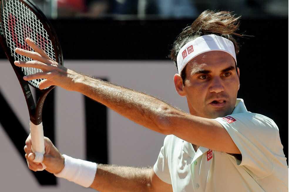 La impresionante jugada de Roger Federer durante un entrenamiento