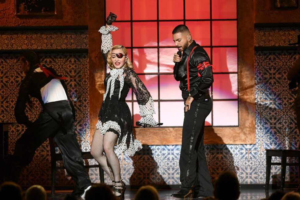 Así fue el show con hologramas de Madonna y Maluma en los Billboard 2019