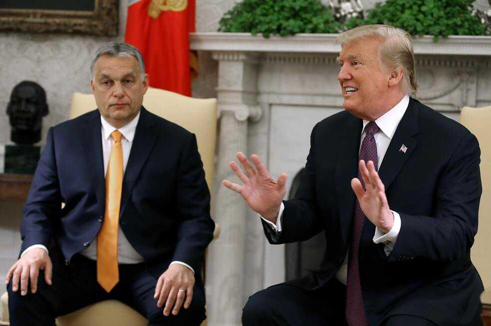 Así fue la reunión entre Trump y Orban, los líderes ultraconservadores