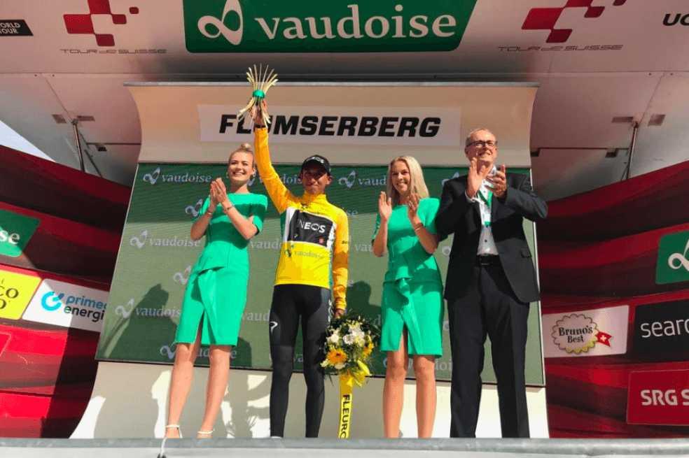 Egan Bernal es el nuevo líder del Tour de Suiza