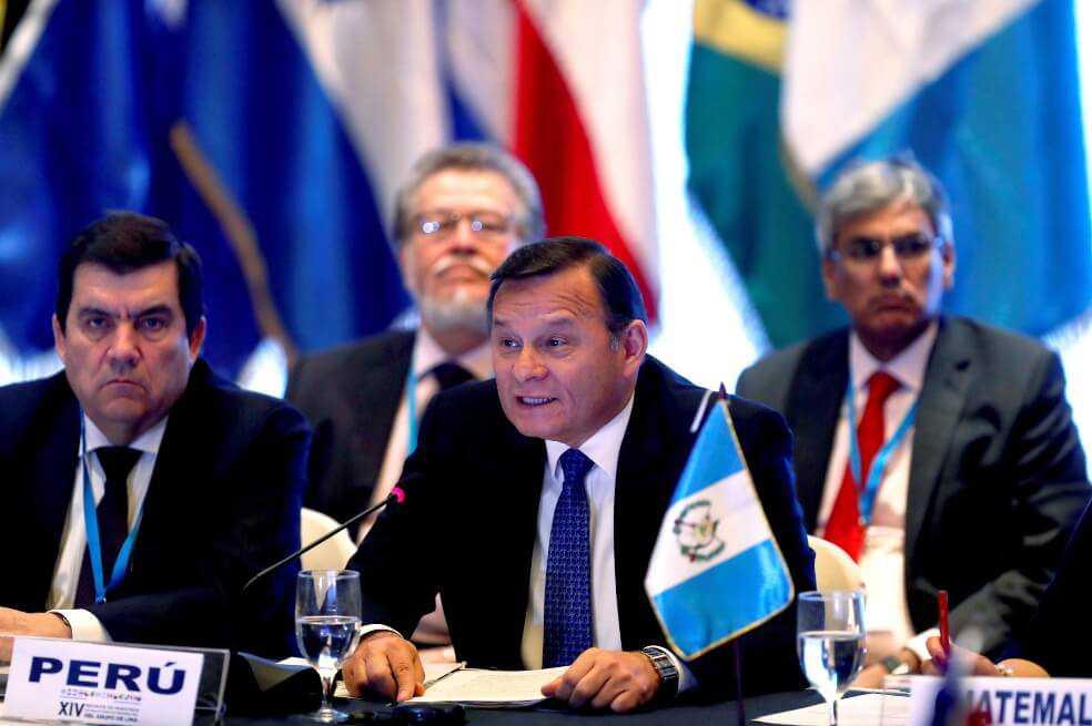 Las claves de la reunión del Grupo de Lima en Guatemala