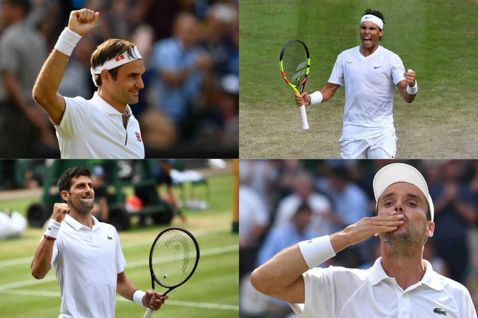 Federer, Nadal y Djokovic y unas semifinales de lujo en Wimbledon