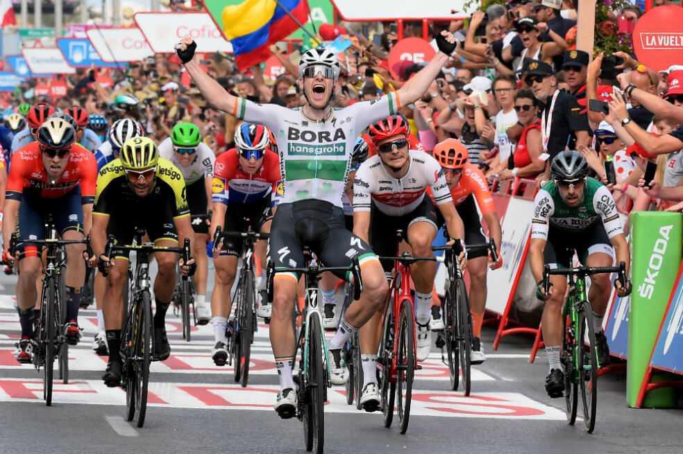 Sam Bennett ganó la tercera etapa de la Vuelta a España 2019