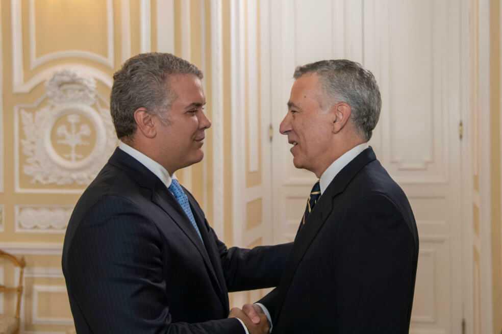 Embajador Goldberg le entregó sus credenciales al presidente Duque