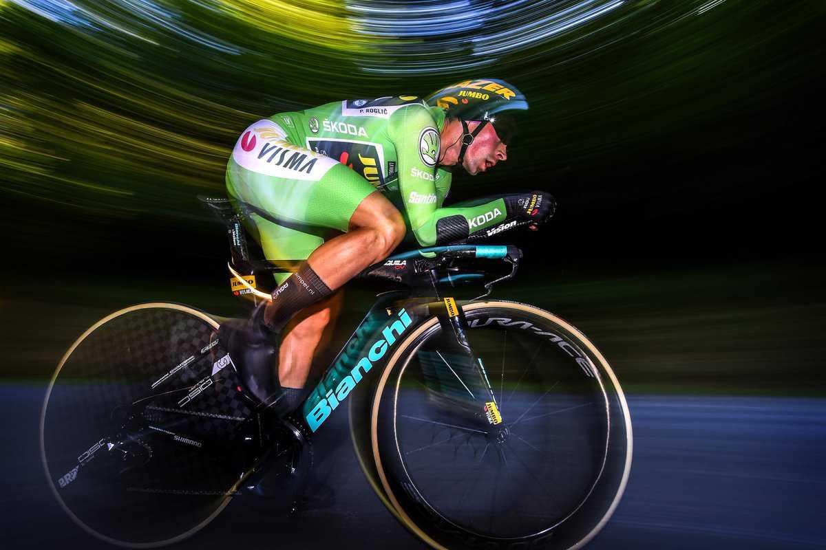 Primoz Roglic voló en la contrarreloj y es el nuevo líder de La Vuelta a España