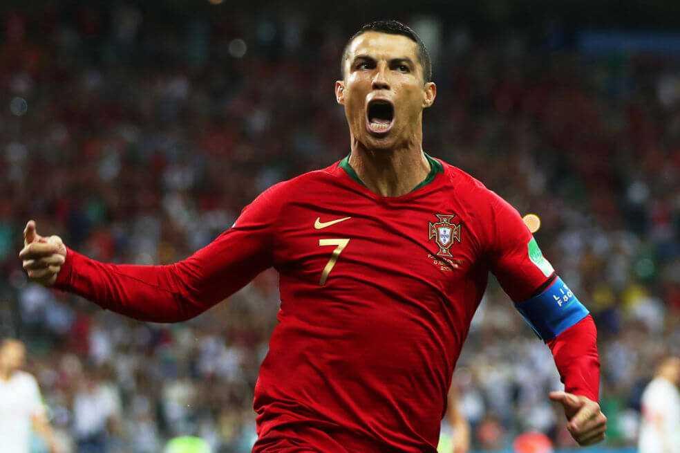 Cristiano Ronaldo anotó cuatro goles en la goleada de Portugal a Lituania