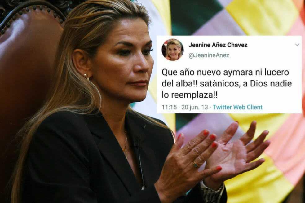 Presidenta interina de Bolivia borró viejos tuits ofensivos contra los indígenas del país