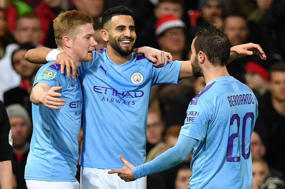 El Manchester City queda a un paso de la final de la Copa de la Liga