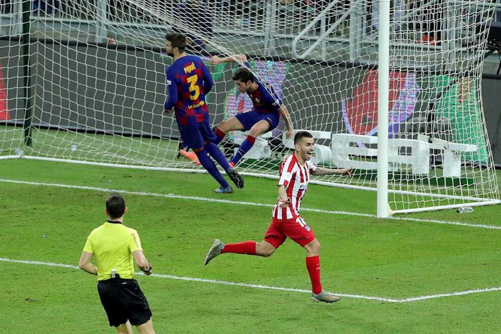 Remontada de Atlético de Madrid, que clasifica a la final de la Supercopa de España