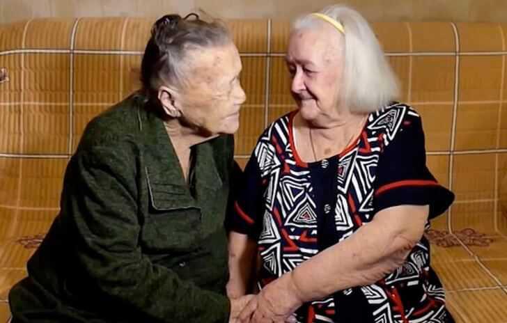 Separadas por la guerra, dos hermanas rusas se reencuentran después de 78 años