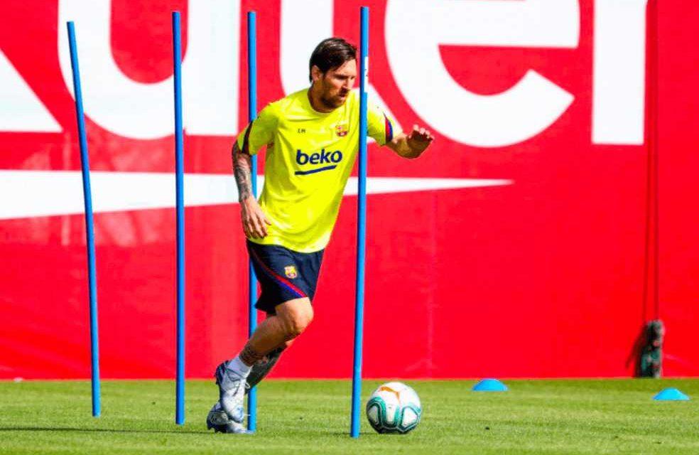 Lionel Messi y Barcelona regresaron a prácticas