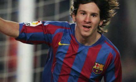 A 15 años del primer gol de Messi con Barcelona