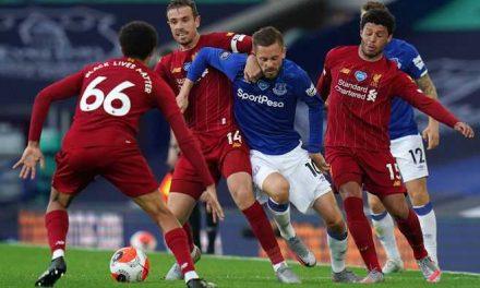 Empate a cero entre el Liverpool y Everton