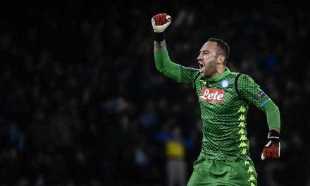 David Ospina fue decisivo en la victoria de Napoli sobre Udinese