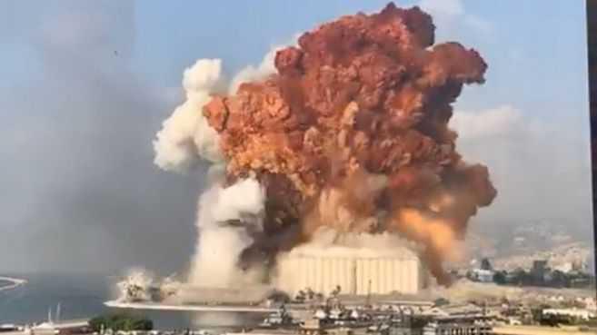 Fuerte explosión sacude a Beirut, en Líbano, y deja al menos 10 muertos