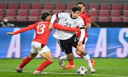 Alemania y Suiza se repartieron los puntos en un festival de goles