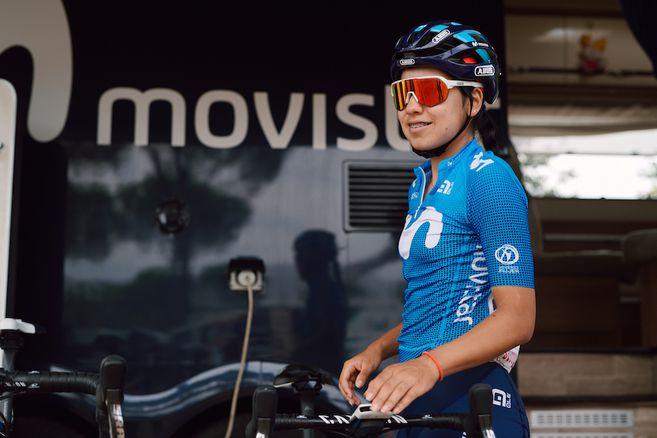 Paula Patiño extendió su contrato con el equipo Movistar