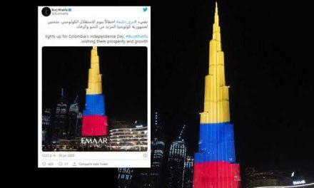 No, el Burj Khalifa no puso la bandera de Colombia a favor del Paro Nacional