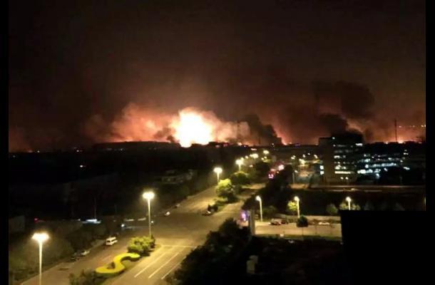 Explosión en puerto de China deja al menos 13 muertos