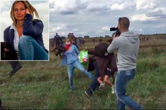 Reportera húngara reconoce que pateó a refugiados, pero no pide perdón