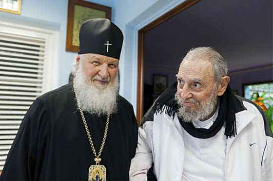 Patriarca ruso Kiril visitó a Fidel Castro en La Habana