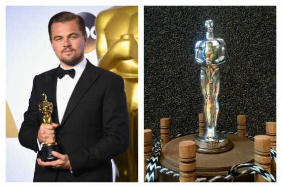 Leonardo DiCaprio recibe un 'segundo Óscar' fabricado en oro y plata