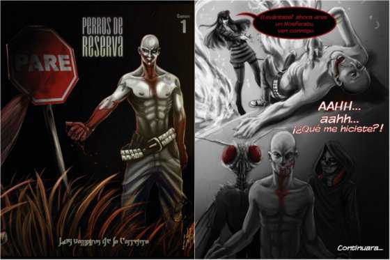 «Los vampiros de la carretera», un cómic de fantasía y rock