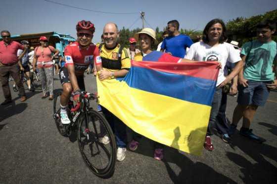 Darwin Atapuma mantiene el liderato en la Vuelta a España tras la sexta etapa