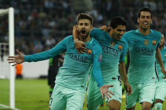 Sin Messi, Barcelona le ganó de visitante 2-1 al Moenchengladbach en Champions