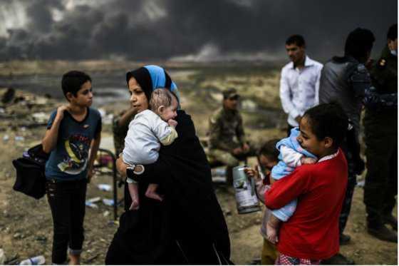 Más de 7.000 desplazados deja ofensiva para liberar Mosul de Estado Islámico