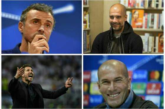 Guardiola, Luis Enrique, Zidane y Simeone, candidatos a mejor entrenador FIFA