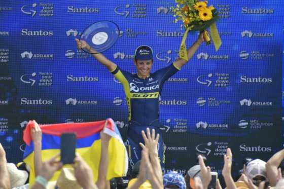 Esteban Chaves finaliza segundo el Tour Down Under