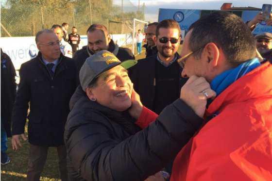 Maradona acompañará al Napoli a Madrid para el partido por Champions ante el Real