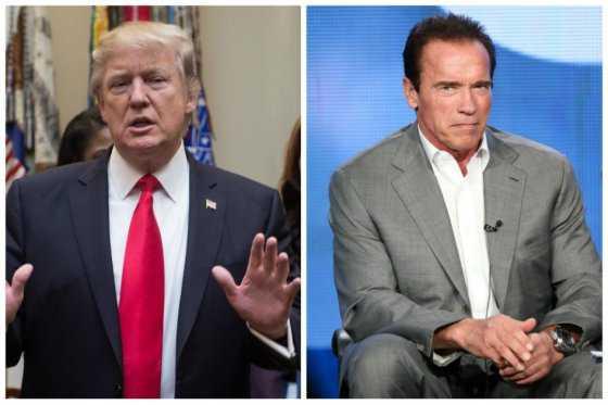 Donald Trump, preocupado por el rating de 'El aprendiz' con Arnold Schwarzenegger