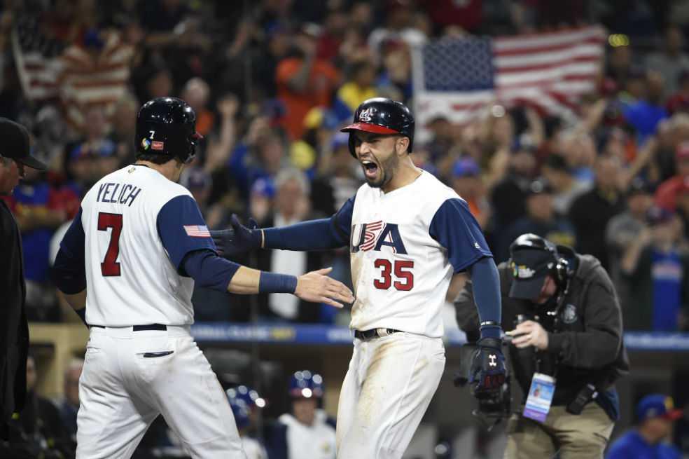 Estados Unidos remontó y venció a Venezuela en el Clásico Mundial de Béisbol