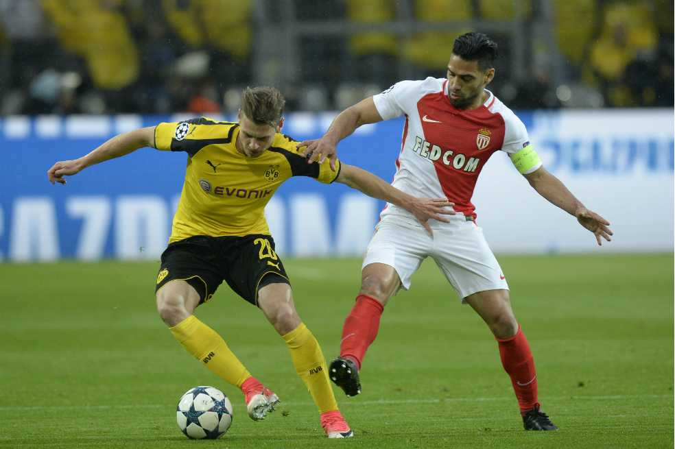Con Falcao, Mónaco venció al Borussia Dortmund por la Champions
