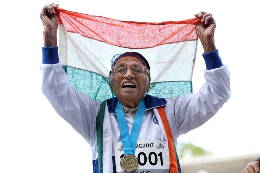 Man Kaur, la mujer de 101 años campeona de los 100 metros