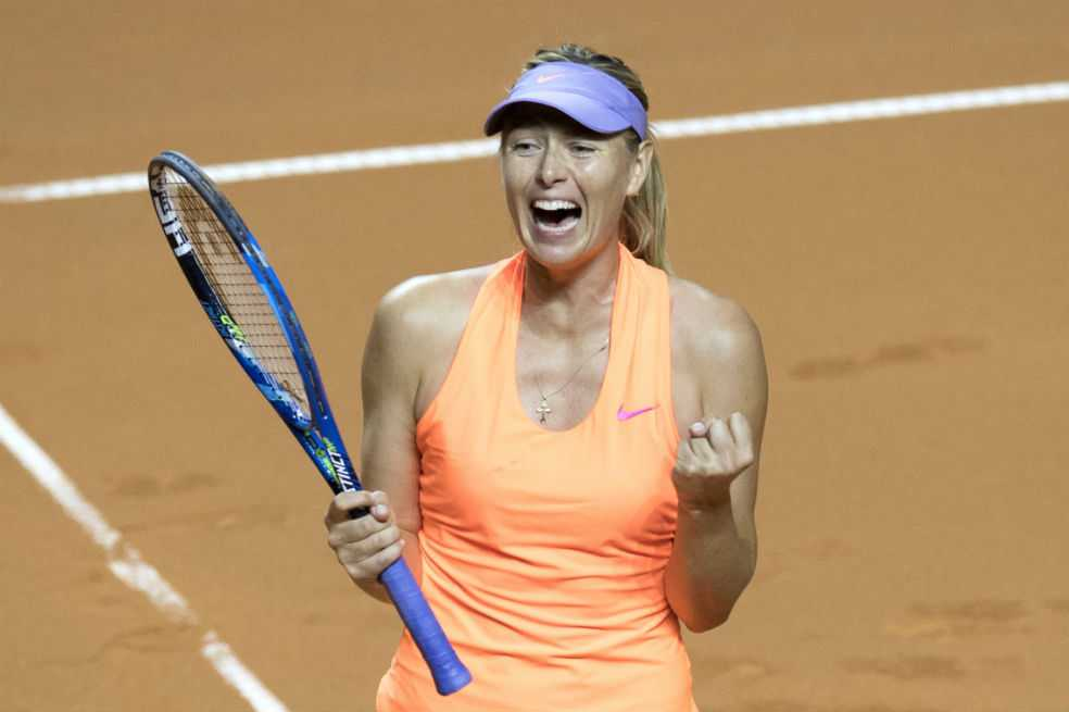 Sharapova avanaza a semifinales del torneo de Stuttgart